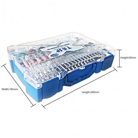 Bosch Professional GSR 12V-15 Perceuse sans fil avec 39 pièces Set d'accessoires, 2 batteries 2,0 AH, Chargeur de batterie avec