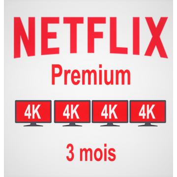Netflix Premium 3 mois | 4...