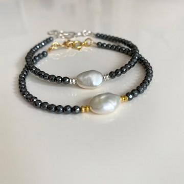 bracelet avec keshi perle...